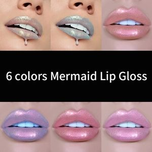 Mermaid Holographic Lip Gloss 6 pc Collection